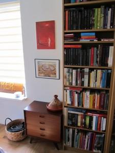 Cupboard and bookshelf